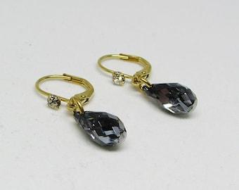 Earrings - stainless steel and Swarovski Crystal - ZOE