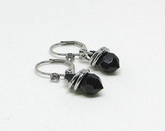 Swarovski - black - KATE BO - TB - short - earrings