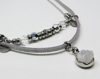 Short necklace - silver - ALYSON
