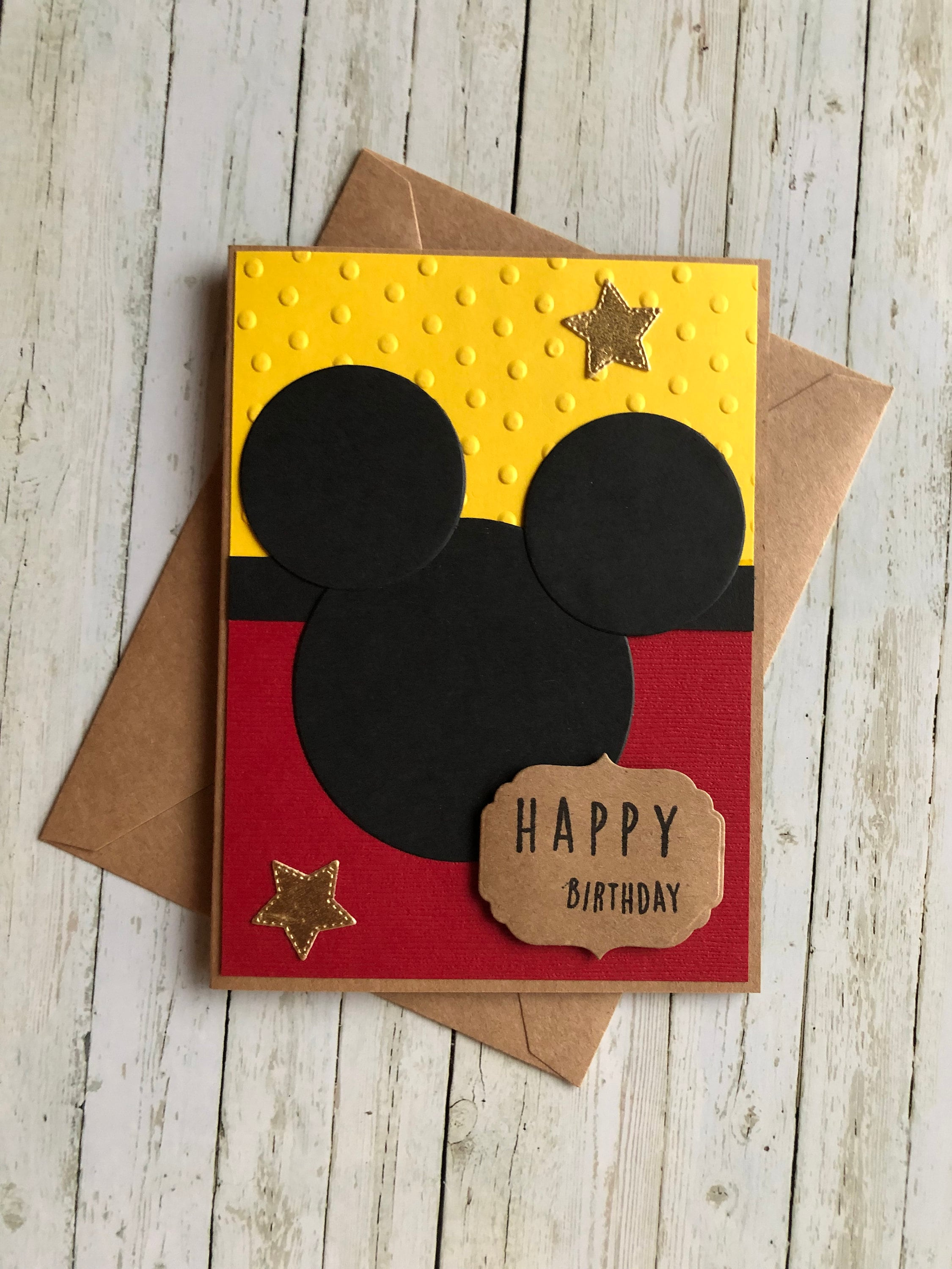 Mickey Mouse Birthday Card Childrens Disney