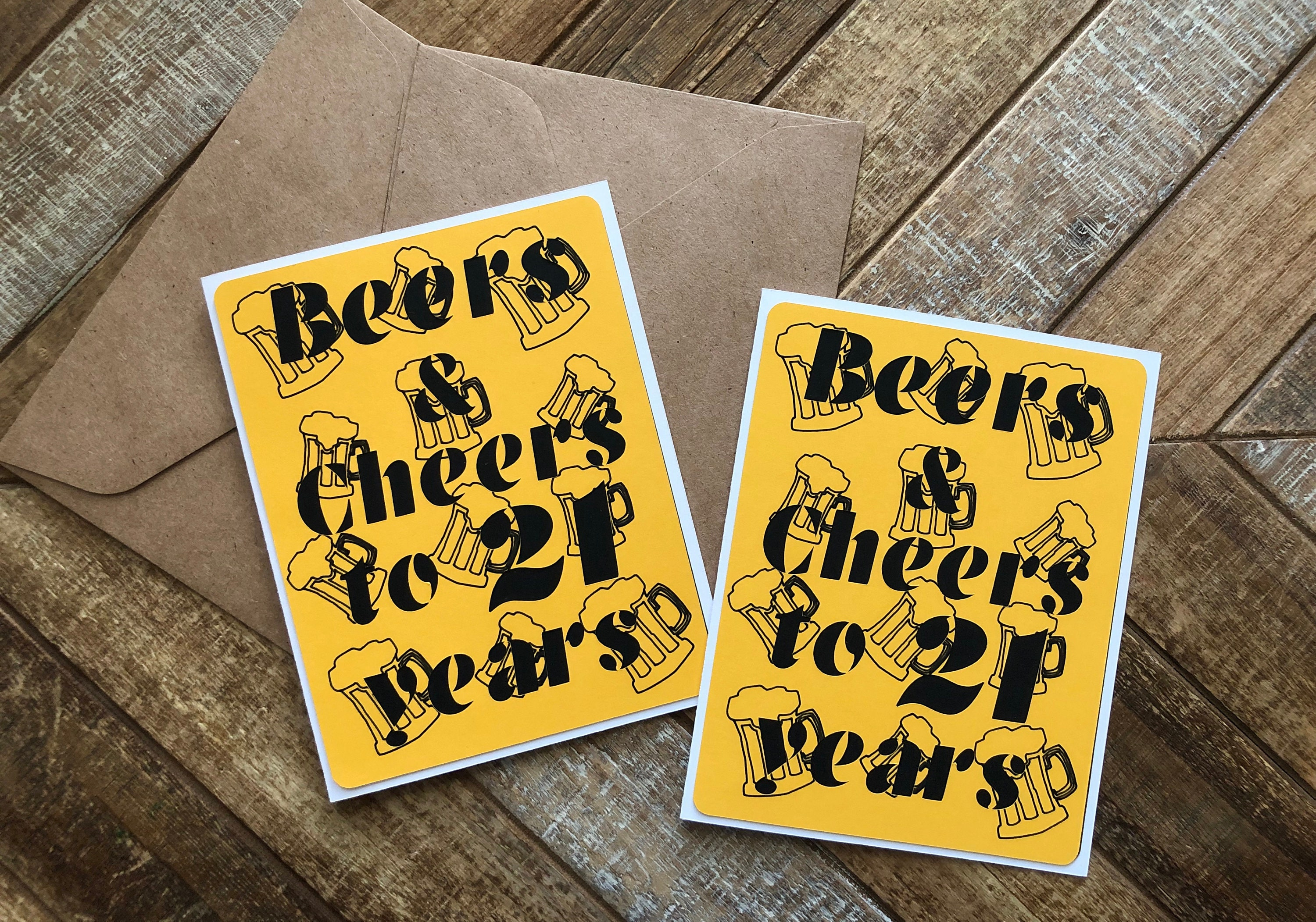 Beers Cheers Card Birthday Cards Beer Custom