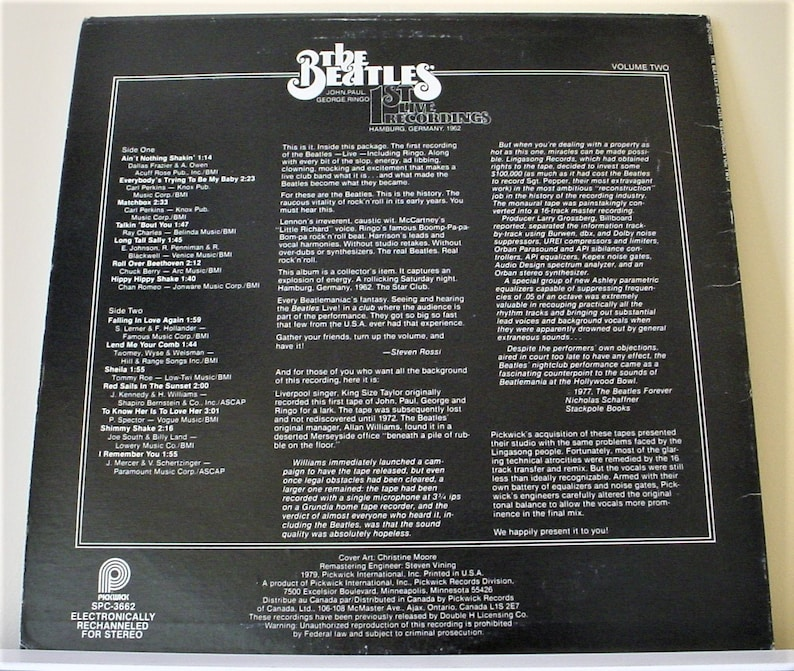 The Beatles - 1st Live Recordings Volume 2, 12