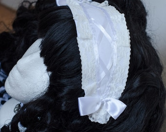 Headpiece Sweet Gothic lolita black and white grinding