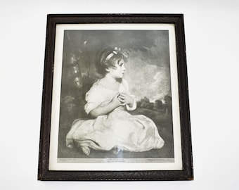 Vintage Hazel Pearson Handicrafts Lithograph Girl With Etsy