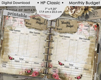 Monthly Budget Planner Printable Happy Planner Classic, Finance Tracker