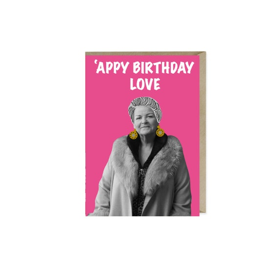 Pat Butcher Birthday Card