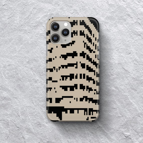 Gridded Black iPhone Case