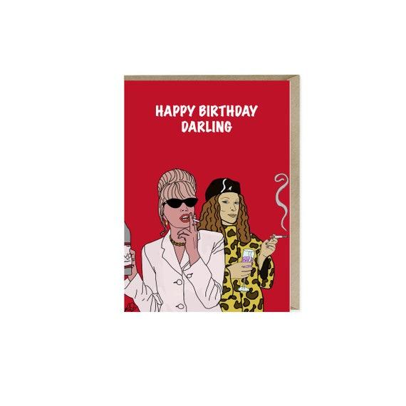 Patsy & Eddie Birthday Card