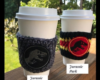 Jurassic World/Park Inspired Coffee Cozy