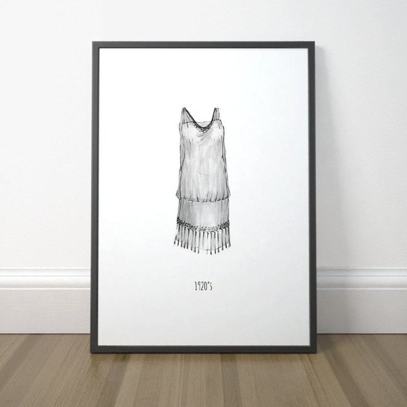 Drawing On Floor the Dress