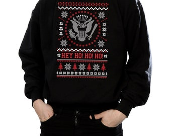 403380f1ea10b Ramones Christmas Funny Xmas Music Sweater // Black Sizes Small-XXL