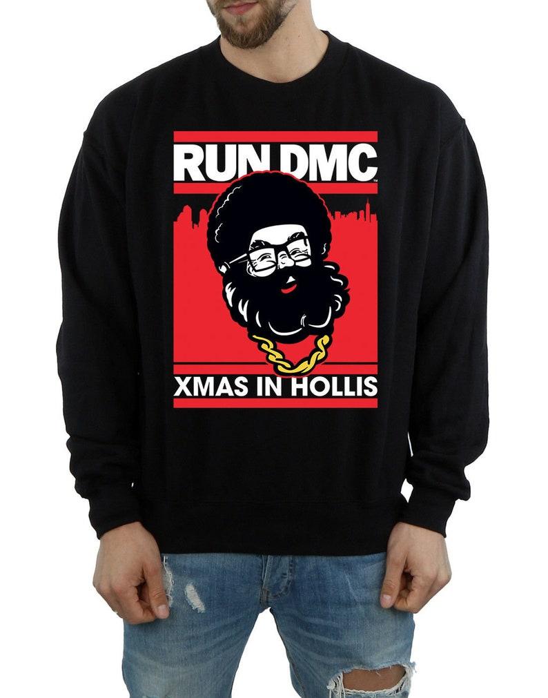 Run Dmc Christmas.Run Dmc Christmas Funny Xmas Music Sweater Black Sizes Small Xxl