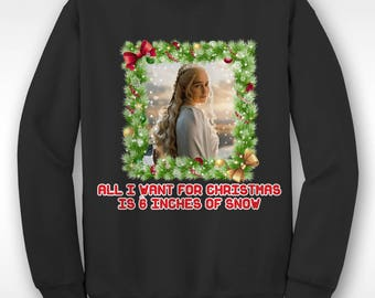 New Game Of Thrones Daenerys Christmas Funny  Xmas Sweater // Ugly Jumper Sizes Small-XXL