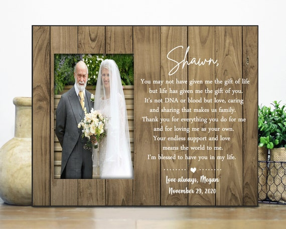 personalized picture frame 4 x6 photo Choice of Papers STEPFATHER  STEPMOTHER  Stepdad  Step Father  Step Dad wedding gift