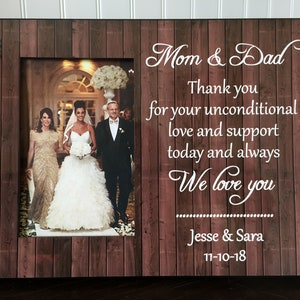 Free Design Proof Thank You for your Unconditional LOVE and Support WEDDING Gift for PARENTS Mom or Dad wedding gift Grandparents  ty03