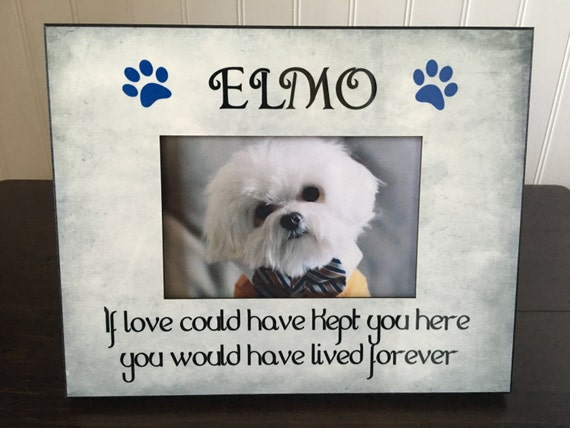 Dog Memorial picture frame // If Love could Have Kept You   Etsy