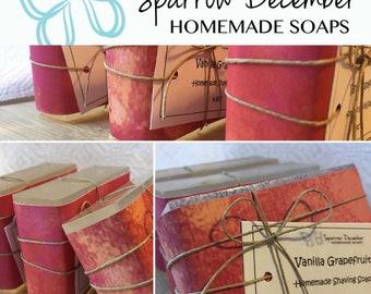 Vanilla Grapefruit Shave Soap
