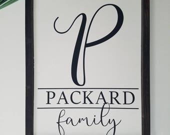 Family Name Sign, name sign, family sign, custom name sign, custom family name sign, established sign, custom name sign, wood sign