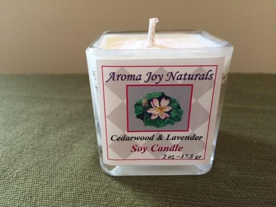 All Natural Soy Votive Candle (Cedarwood ~ Lavender)