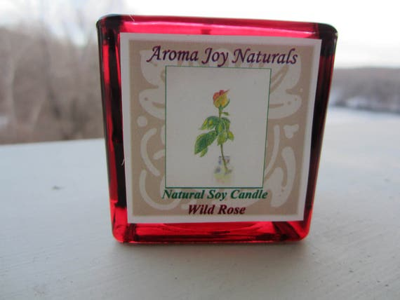 All Natural Soy Votive Candle (Wild Rose scent)