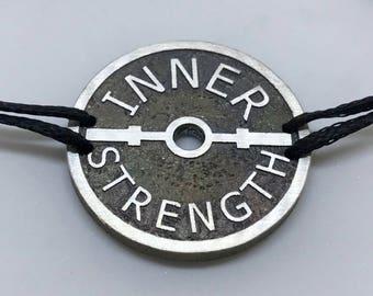 Oxidised Silver Inner Strength Bracelet