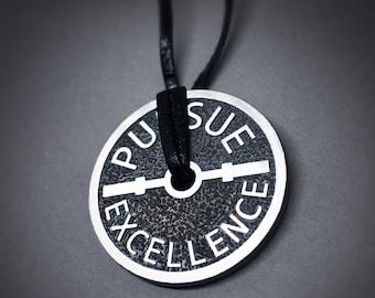 Oxidised Silver Pursue Excellence Necklace