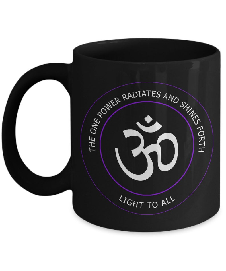 Unique Ohm Black Coffee Mug - Peace Yoga Meditation Mantra Buddhism  Hinduism Coffee Tea Cup