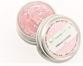 Hibiscus lip balm, natural skincare, mini lip balm, lip balm, herbal salve, natural beauty products, natural lipbalm, skin care, hibiscus,