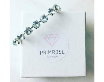 Light Blue + Silver, Handmade Swarovski Crystal Bracelet, Light Blue Bracelet, Blue Bracelet, Silver Bracelet, Bridesmaid Bracelet