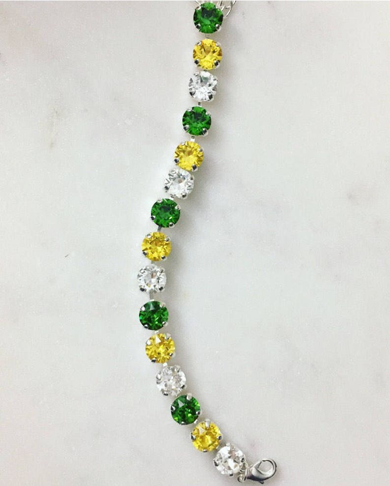 7e0e72bad Green Bay Packers Inspired Green and Gold Silver Swarovski   Etsy