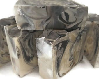 Toasted Coconut Soap, Coconut soap, Tropical Soap, large bar soap, handmade soap, brown soap, low shipping, beige soap