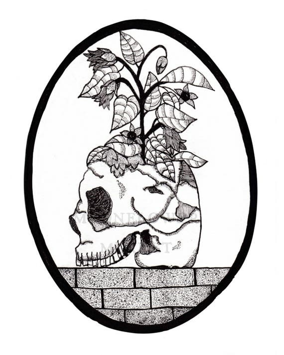 Growth: Skull and Belladonna Print