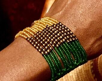 Massai Multi-straid Beaded Bracelet
