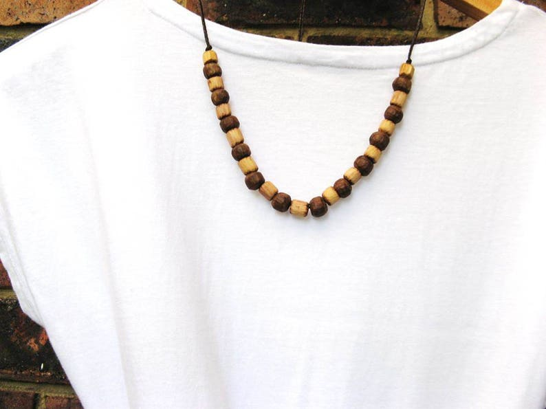Rare and Beautiful All Handcrafted Australian Native Wood Beaded Necklace Tea Tree /& Golden Penda Beads on Adjustable Necklace