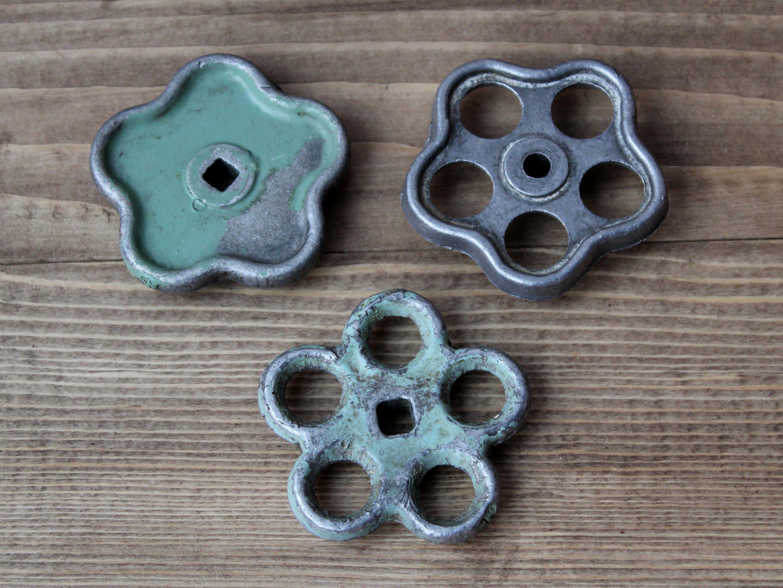 Set of 3 Water Tap Handle, faucets Metal Spigot handle, Water Tap ...