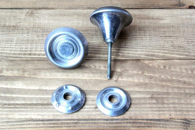 Set of 2 door knobs metal door knobs vintage door knobs-round door handles-Soviet door handle-Victorian knobs-Rustic Handles-Retro knobs