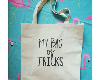 My bag of tricks large canvas tote