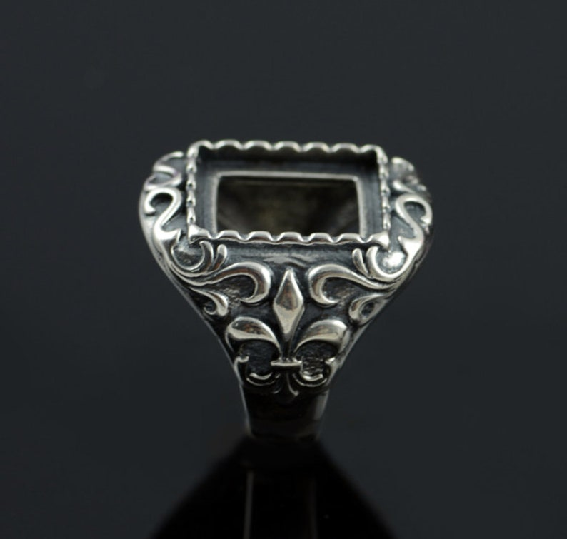 13mmx15mm Sterling Silver Ring BaseAntique 925 Silver Ring BlankBlank Sterling Silver Ring#SS-R80416P605