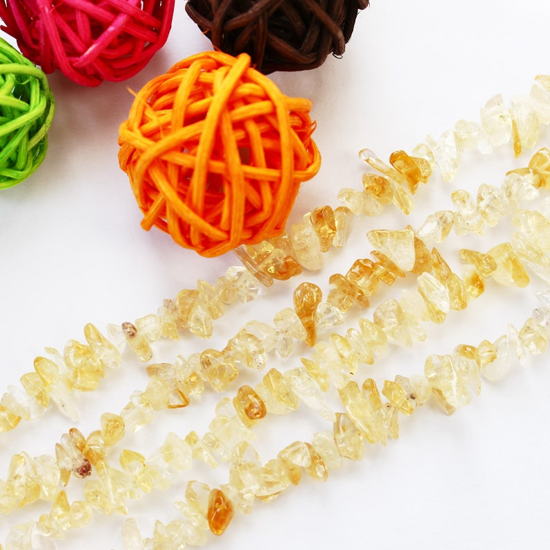 Natural Citrine quartzCitrine chips quartz beadsCitrine gemstone1 full strand90cmsmall chipA quality#GZ-S80309P802