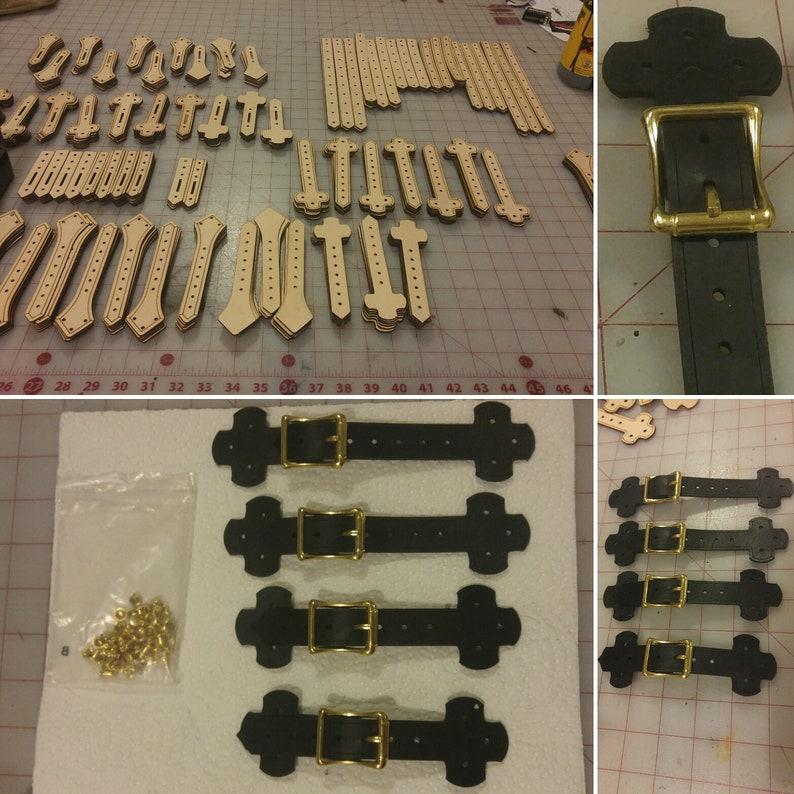 4 DIY Non dyed Diamond shaped straps