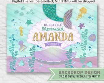 Mermaid Backdrop Etsy
