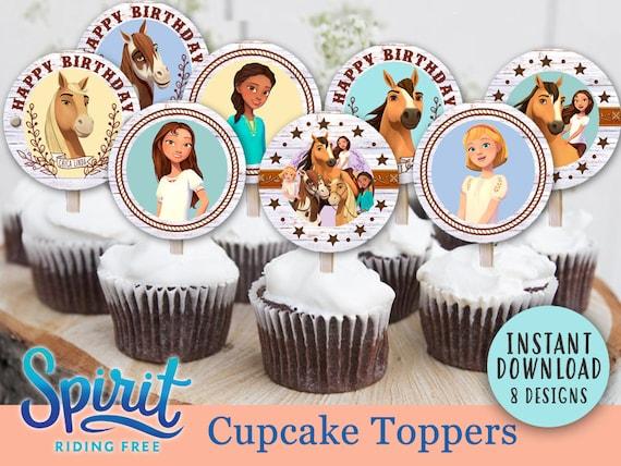 Spirit Riding Free Cupcake Topper 2 Circle // DIGITAL | Etsy