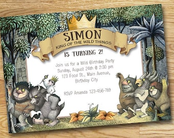 Where The Wild Things Are Birthday Invitation // Digital File Only