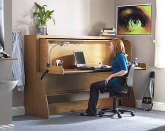 do it yourself office desk.  Yourself Horizontal DIY Transforming Home Office Desk To Twin Single Bed Kit  Do ItYourself Mechanism Plans Drawings U0026 Assembly Instructions Intended It Yourself