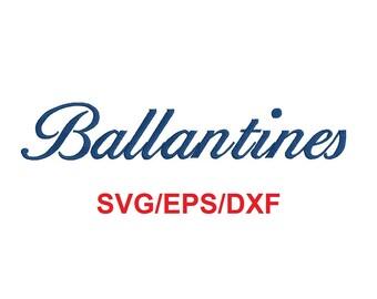 Ballantines alphabet svg/eps/dxf cutting files