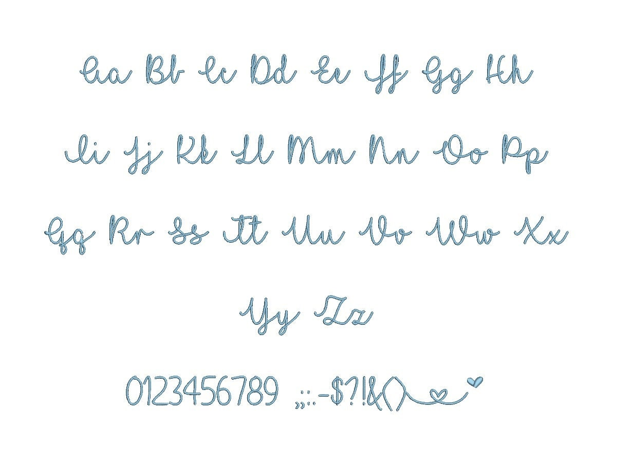I Love Glitter Embroidery Font Dst Exp Jef Hus Vip Vp3 Xxx 15 Sizes Small To Large Svg Mha