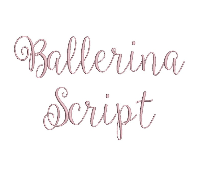 Ballerina Script embroidery font formats bx dst exp pes image 0
