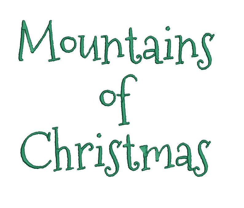 Mountains of Christmas embroidery font formats dst exp pes   Etsy