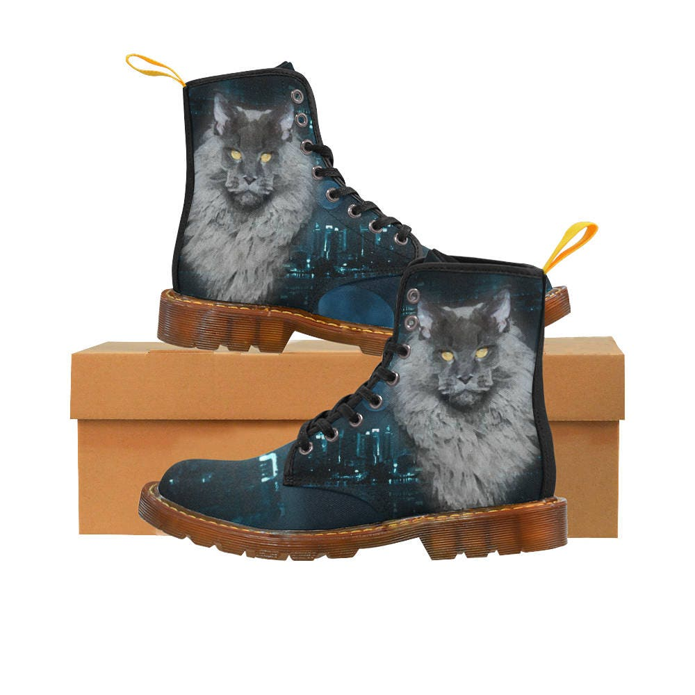Maine Coon cat Martens Canvas Mujer    botas  a8f6ed