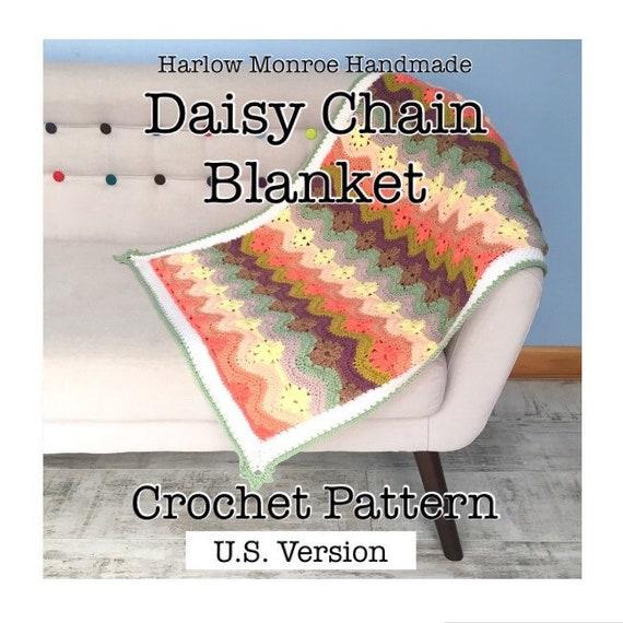 Daisy-Chain Decke häkeln Muster Digital Download PDF-Datei | Etsy